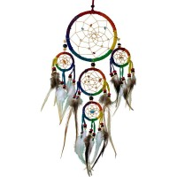 Rainbow Leather Dreamcatcher