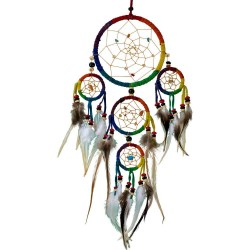 Rainbow Leather Dreamcatcher LABEShops Home Decor, Fashion and Jewelry