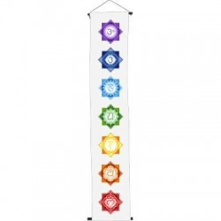 Chakra White Meditation Banner LABEShops Home Decor, Fashion and Jewelry