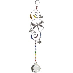 Dragonfly Wire Hanging Crystal Prism Suncatcher LABEShops Home Decor, Fashion and Jewelry