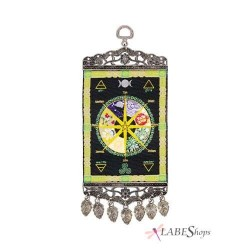 Wheel of the Year Mini Carpet Wall Hanging LABEShops Home Decor, Fashion and Jewelry