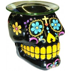 Black Sugar Skull Oil Burner LABEShops Home Decor, Fashion and Jewelry