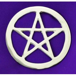 Pentacle Silver Altar Tile LABEShops Home Decor, Fashion and Jewelry