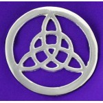 Triquetra Open Silver Altar Tile at LABEShops, Home Decor, Fashion and Jewelry