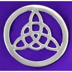 Triquetra Open Silver Altar Tile LABEShops Home Decor, Fashion and Jewelry