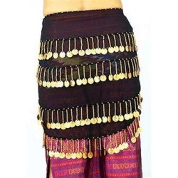 Black Belly Dance Hip Scarf LABEShops Home Decor, Fashion and Jewelry