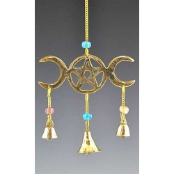 Triple Moon Brass Chime LABEShops Home Decor, Fashion and Jewelry