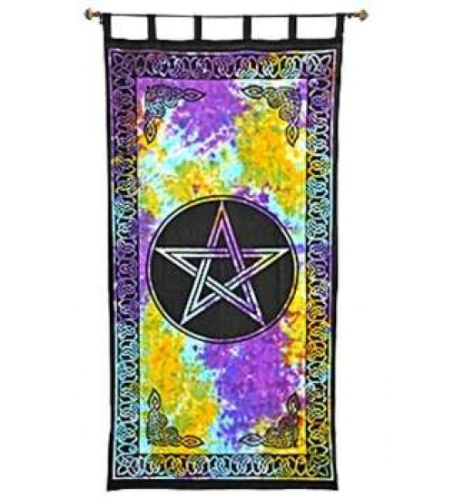 Pentacle Tie Die Curtain at LABEShops, Home Decor, Fashion and Jewelry