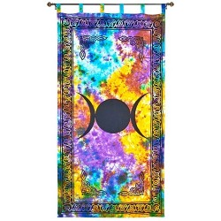 Triple Moon Tie Die Curtain LABEShops Home Decor, Fashion and Jewelry