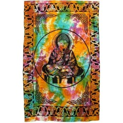 Buddha Tie Dye Full Size Cotton Tapestry LABEShops Home Decor, Fashion and Jewelry