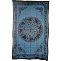 Celtic Knot Blue Cotton Full Size Tapestry