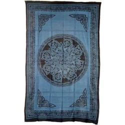 Celtic Knot Blue Cotton Full Size Tapestry LABEShops Home Decor, Fashion and Jewelry