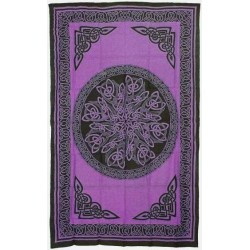 Celtic Knot Purple Cotton Full Size Tapestry LABEShops Home Decor, Fashion and Jewelry