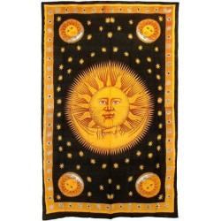 Solar Eclipse Gold Tapestry Bedspread LABEShops Home Decor, Fashion and Jewelry
