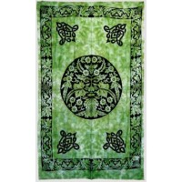 Green Man Green Cotton Full Size Tapestry