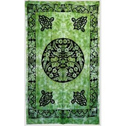 Green Man Green Cotton Full Size Tapestry LABEShops Home Decor, Fashion and Jewelry