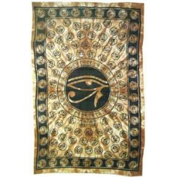 Egyptian Eye of Horus Bedspread - Brown LABEShops Home Decor, Fashion and Jewelry