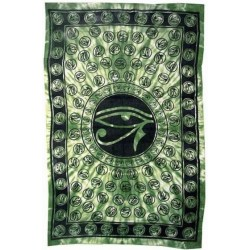 Egyptian Eye of Horus Bedspread - Green LABEShops Home Decor, Fashion and Jewelry