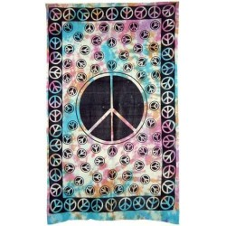Peace Sign Tie Dye Cotton Full Size Tapestry
