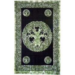 Green Tree of Life Celtic Cotton Full Size Tapestry LABEShops Home Decor, Fashion and Jewelry