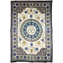 Floral Triquetra Charmed Cotton Full Size Tapestry LABEShops Home Decor, Fashion and Jewelry