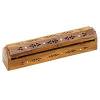 Wood Box Incense Burner with Stars