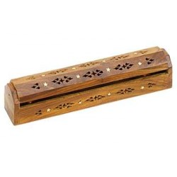 Wood Box Incense Burner with Stars LABEShops Home Decor, Fashion and Jewelry