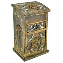 Om Carved Wooden Storage Chest LABEShops Home Decor, Fashion and Jewelry