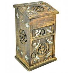 Triquetra Carved Wooden Storage Chest LABEShops Home Decor, Fashion and Jewelry