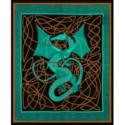 Celtic English Dragon Tapestry - Full Size Green