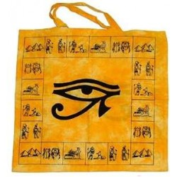 Egyptian Eye of Horus Cotton Tote Bag