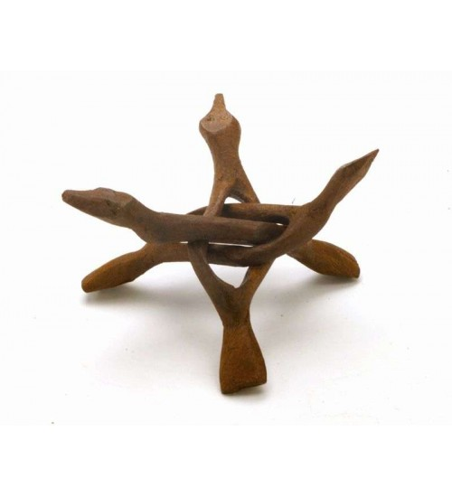 Wood Cobra Stand - 6 Inches at LABEShops, Home Decor, Fashion and Jewelry