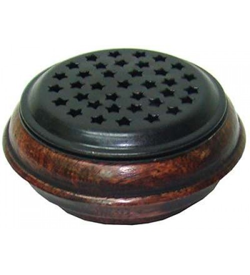 Wood and Metal Incense Censer