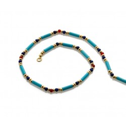 Egyptian Turquoise and Lapis Bead Necklace LABEShops Home Decor, Fashion and Jewelry