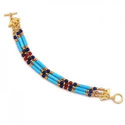 Egyptian Turquoise and Lapis Bracelet LABEShops Home Decor, Fashion and Jewelry