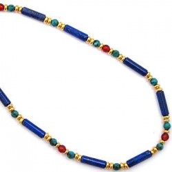 Egyptian Lapis and Turquoise Necklace LABEShops Home Decor, Fashion and Jewelry
