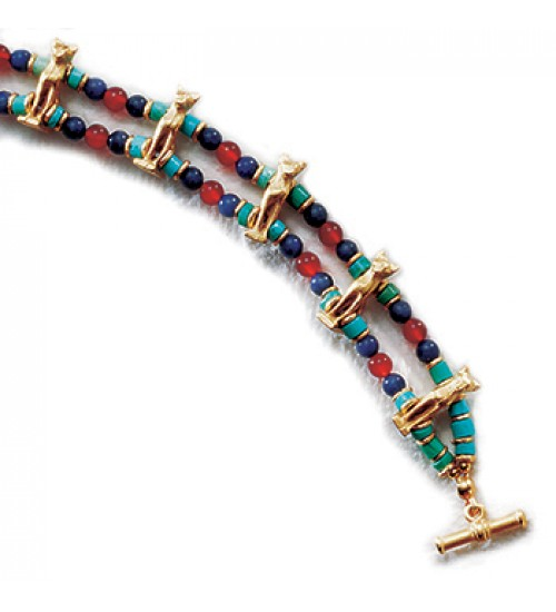 Bastet Cat Bracelet with Beads at LABEShops, Home Decor, Fashion and Jewelry