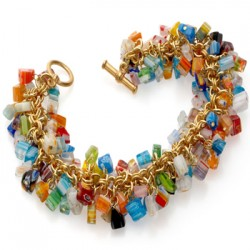 Mosaic Glass Chip Bracelet LABEShops Home Decor, Fashion and Jewelry