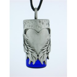 Angels Heart Pewter Bottle Necklace LABEShops Home Decor, Fashion and Jewelry