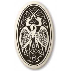 Birds Celtic Porcelain Oval Necklace LABEShops Home Decor, Fashion and Jewelry