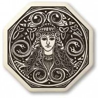 Brigantia Goddess Porcelain Octagon Necklace
