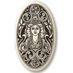 Brigantia Celtic Goddess Porcelain Oval Necklace LABEShops Home Decor, Fashion and Jewelry