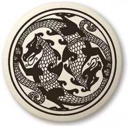 Dragon Round Porcelain Necklace LABEShops Home Decor, Fashion and Jewelry