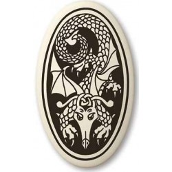 Dragon Oval Celtic Porcelain Necklace LABEShops Home Decor, Fashion and Jewelry