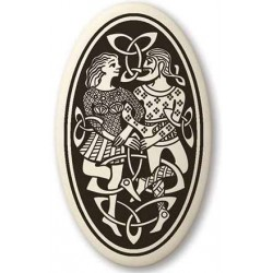 Divine Couple Celtic Oval Porcelain Necklace LABEShops Home Decor, Fashion and Jewelry