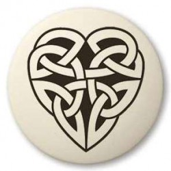Celtic Heart Round Porcelain Necklace LABEShops Home Decor, Fashion and Jewelry