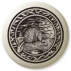 Beaver Pathfinder Animal Totem Porcelain Necklace