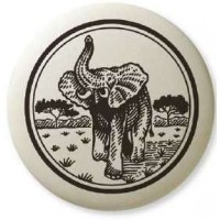 African Elephant Pathfinder Animal Totem Porcelain Necklace