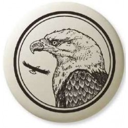 Bald Eagle Pathfinder Animal Totem Porcelain Necklace LABEShops Home Decor, Fashion and Jewelry