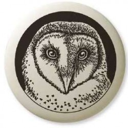 Barn Owl Pathfinder Animal Totem Porcelain Necklace LABEShops Home Decor, Fashion and Jewelry